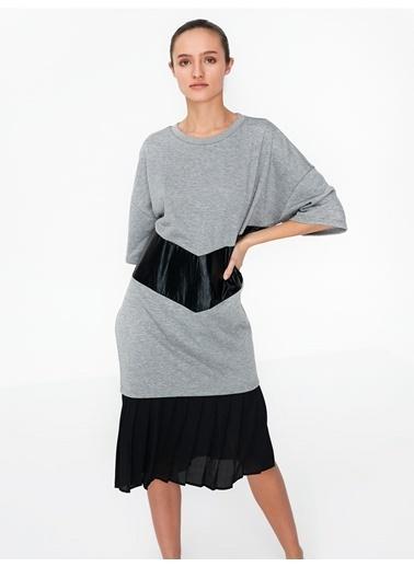 Twist Elbise Gri